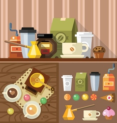 Devices for making coffee vector