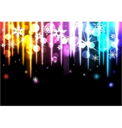 Disco background with snowflakes vector
