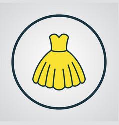 Dress colorful outline symbol premium quality vector