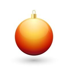 Gradient christmas orange ball vector image