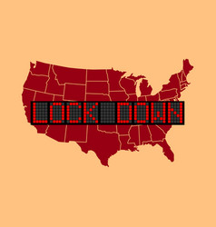 graphic usa lockdown vector image