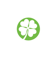 green clover leaf logo template vector image