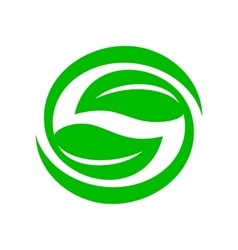 Green leaves icon simple style vector