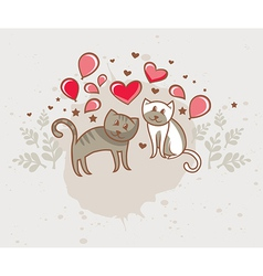 greeting card love vector image