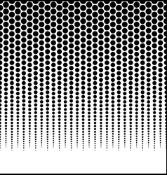 Halftone dotted pattern background horizontally vector