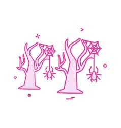 halloween icon design vector image