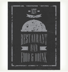 Hand-drawn chalkboard menu vector