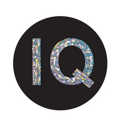 Iq hand drawn sign vector