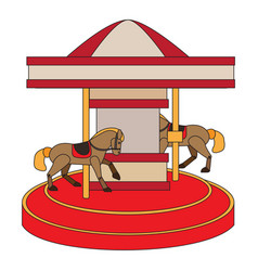 Isolated carousel icon vector
