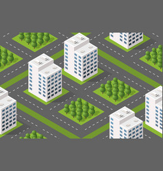 Isometric module city from urban building vector