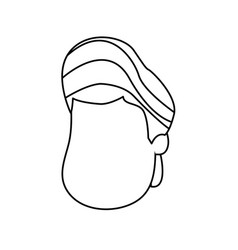line nice boy face with haistyle vector image