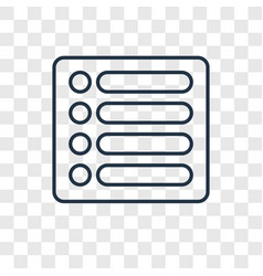 list concept linear icon isolated on transparent vector image