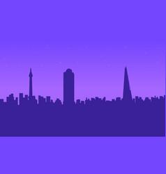 london city building beauty landscape silhouettes vector image