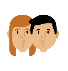 Loving couple kisses isolated vector