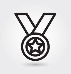 medal icon sports award icon sport winner symbol vector image