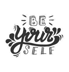 motivation word hand lettering vector image