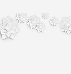 Paper art floral background 3d flower paper vector