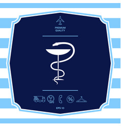 Pharmacy symbol medical snake and cup graphic vector