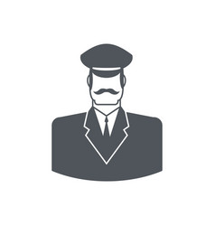 porter icon concierge sign guard at entrances of vector image