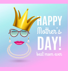 Queen mother day background vector