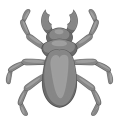 Rhinoceros beetle icon cartoon style vector image