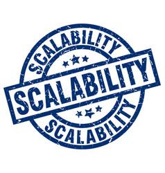 Scalability blue round grunge stamp vector