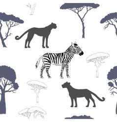 Seamless pattern with savanna animals-02 vector image vector image