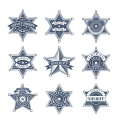 Security sheriff badges police shield vector
