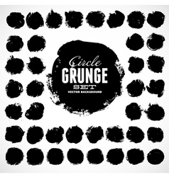 Set grunge circles vector
