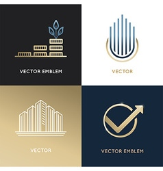 set logo design templates and emblems vector image