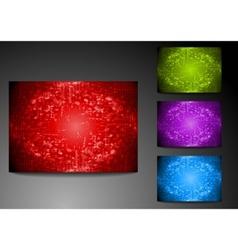 set of grunge bright backdrops vector image