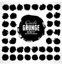 Set of grunge circles vector