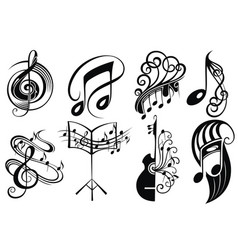 set of logo music vector image