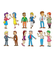 Set of people talking cartoon vector