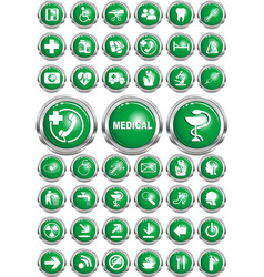 set of web icons - medicine vector image