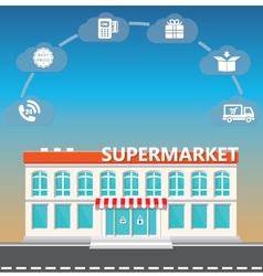 shop supermarket on roadside vector image