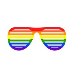 shutter rainbow glasses icon vector image