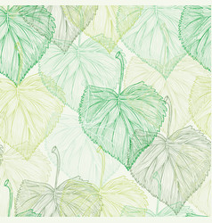 Spring green leaf seamless pattern vector