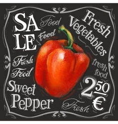 sweet pepper logo design template fresh vector image