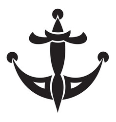 tattoo anchor icon simple style vector image