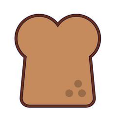 Toast bread food symbol vector