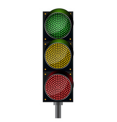 Traffic lights background vector
