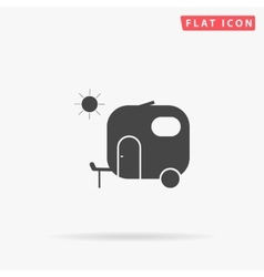 trailer simple flat icon vector image