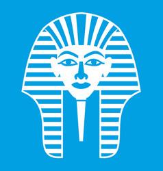 Tutankhamen mask icon white vector