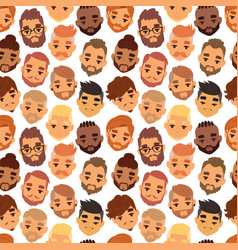 Various expressions bearded man face avatar vector