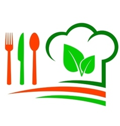 vegetarian restaurant emblem vector image