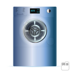 Washing machine on white background 3d closed vector