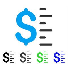 Dollar value flat icon vector