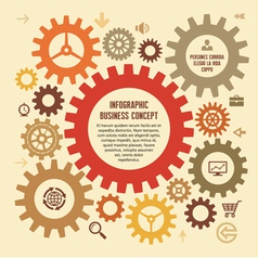 Infographic Business Concept with Gears vector image vector image