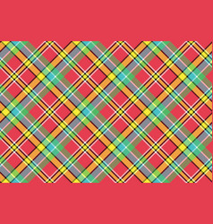 madras diagonal plaid pixeled seamless background vector image
